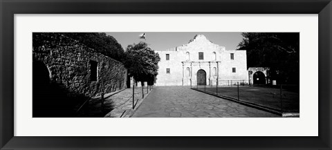 Framed Facade of a building, The Alamo, San Antonio, Texas Print