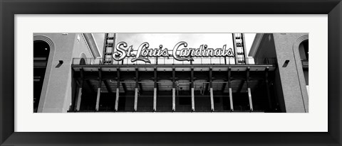 Framed Low angle view of the Busch Stadium in St. Louis, Missouri Print