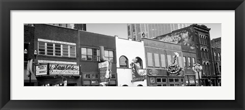 Framed Neon signs on buildings, Nashville, Tennessee Print