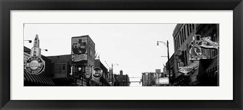 Framed Buildings in a city at dusk, Beale Street, Memphis, Tennessee Print