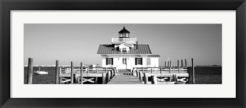 Framed Roanoke Marshes Lighthouse, Outer Banks, North Carolina Print
