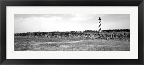 Framed Lighthouse on the coast, Cape Hatteras Lighthouse, Outer Banks, North Carolina Print