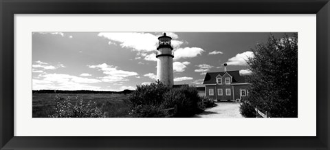 Framed Highland Light, Cape Cod National Seashore, North Truro, Cape Cod, Massachusetts Print