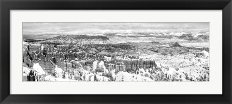 Framed Eroded rocks in a canyon, Bryce Canyon, Bryce Canyon National Park, Utah Print