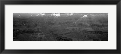 Framed Rock formations on a landscape, Hopi Point, Grand Canyon National Park, Arizona Print