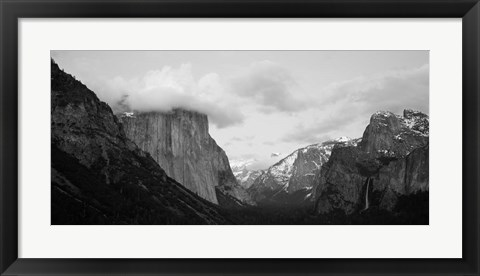 Framed Clouds over mountains, Yosemite National Park, California Print
