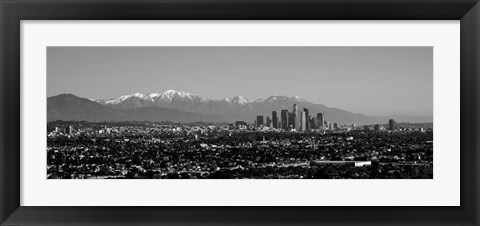Framed High angle view of a city, Los Angeles, California Print