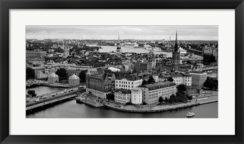 Framed High angle view of a city, Stockholm, Sweden Print