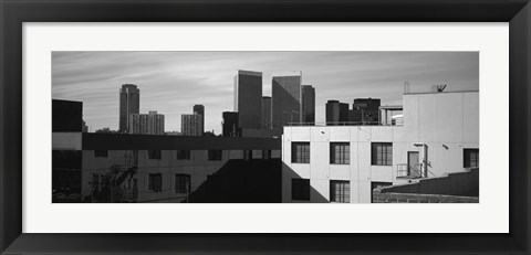 Framed Buildings in front of skyscrapers, Century City, City of Los Angeles, California Print