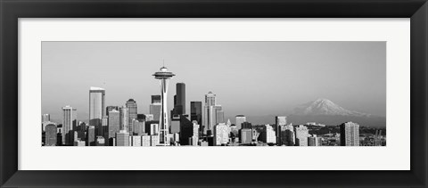 Framed Skyline, Seattle, Washington State Print