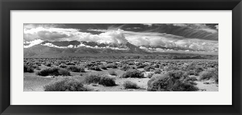 Framed Death Valley landscape, Panamint Range, Death Valley National Park, Inyo County, California Print