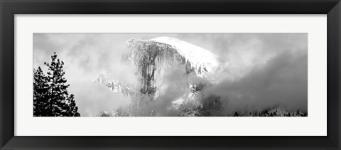 Framed Mountain Covered With Snow, Half Dome, Yosemite National Park, California Print