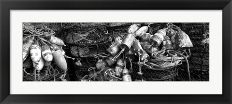 Framed Close-up of crab pots, Humboldt County, California Print