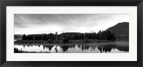 Framed Wyoming, Grand Teton Park, Ox Bow Bend Print
