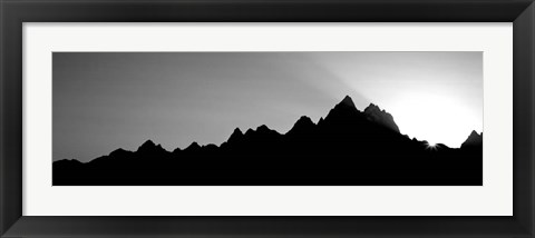 Framed Sunset Teton Range Grand Teton National Park WY USA Print