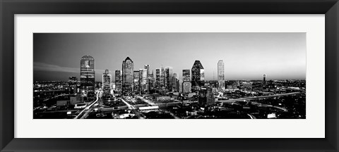 Framed Night, Dallas, Texas Print