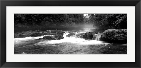 Framed Little Pigeon River, Great Smoky Mountains National Park,North Carolina, Tennessee, Print