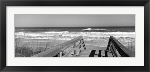 Framed Playlinda Beach, Canaveral National Seashore, Titusville, Florida Print