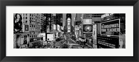 Framed High angle view of traffic on a road, Times Square, Manhattan, NY Print