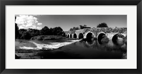 Framed Thirteen Arch Bridge over the River Funshion, Glanworth, Ireland Print