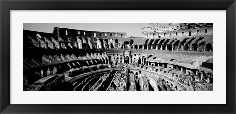 Framed High angle view of tourists in an amphitheater, Colosseum, Rome, Italy Print