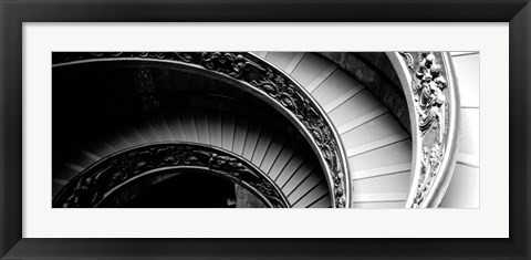 Framed Spiral Staircase, Vatican Museum, Rome, Italy Print