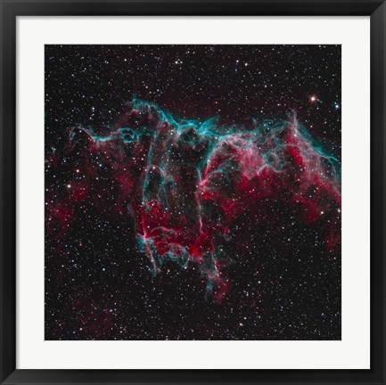 Framed NGC 6995, the Bat Nebula Print