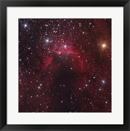 Framed Cave Nebula located in the Constellation Cepheus Print