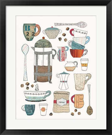 Framed Coffee Chart II Print