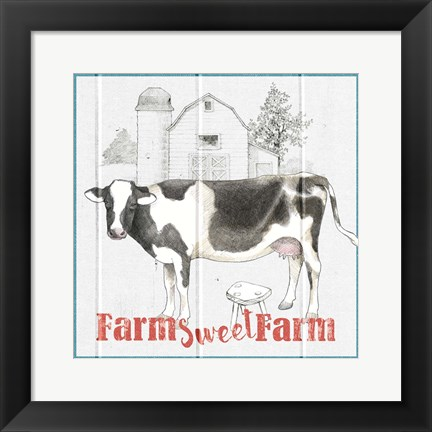 Framed Farm To Table IV Print