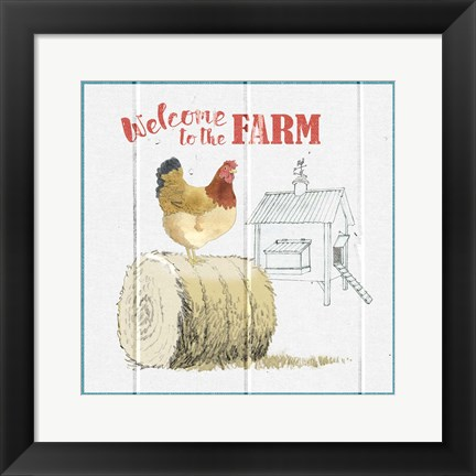 Framed Farm To Table V Print
