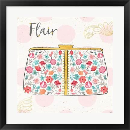 Framed Fashion Blooms I Print