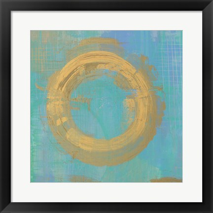 Framed Golden Circles II Print