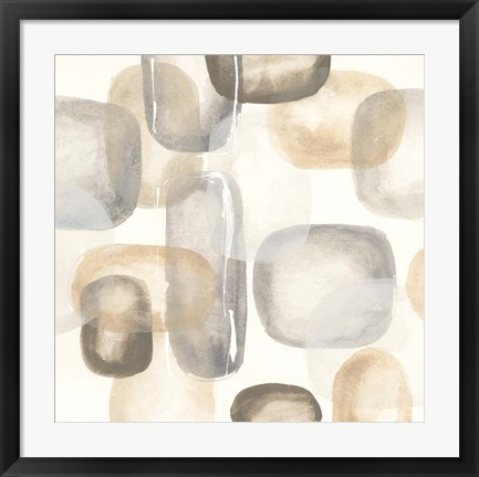 Framed Neutral Stones II Print