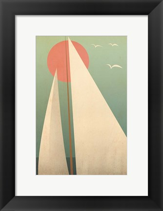 Framed Sails III Print