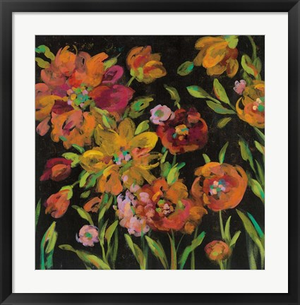 Framed July Garden Trio III Print