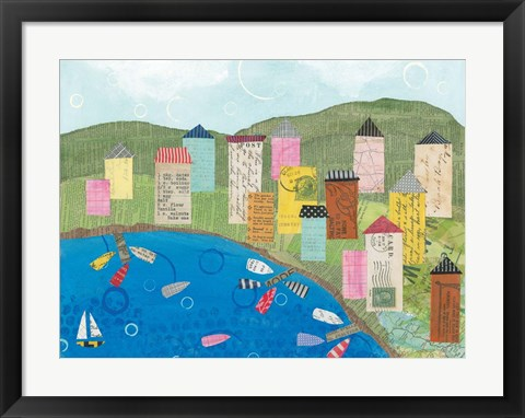 Framed Coastal Harbor III Print