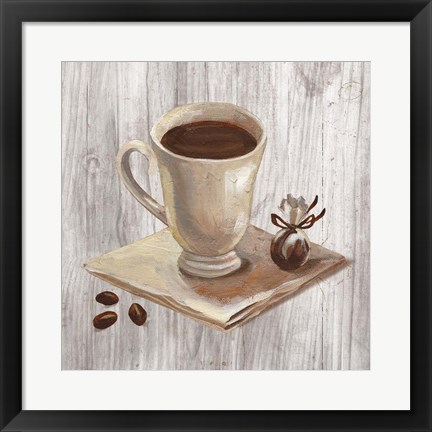 Framed Coffee Time IV on Wood Print