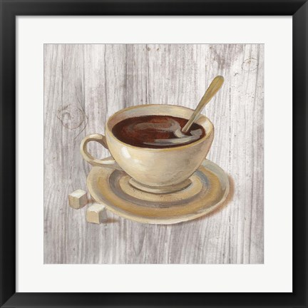 Framed Coffee Time VI on Wood Print