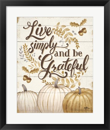Framed Grateful Season I Print