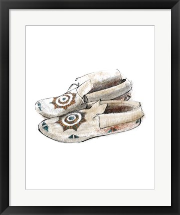 Framed Indian Moccasins Print
