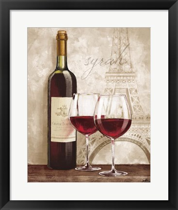 Framed Wine in Paris IV Print