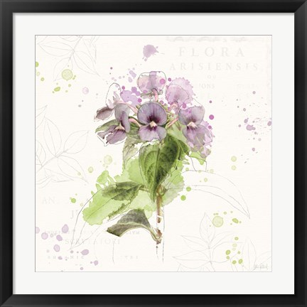 Framed Floral Splash III Print