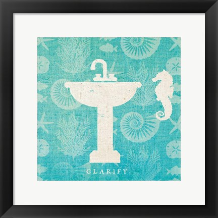 Framed Pacific Bath II Print
