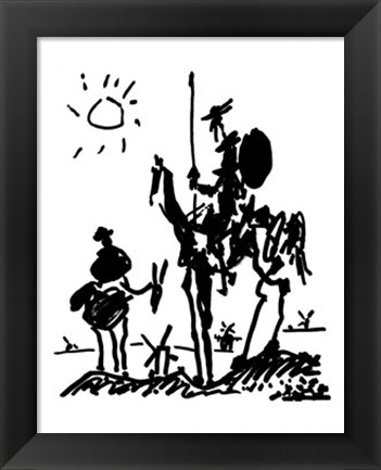 Framed Don Quixote Print