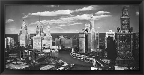 Framed Chicago, c.1930 Print