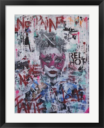 Framed No Pain No Fame (Cara) Print