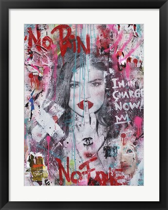 Framed No Pain No Fame (Kylie) Print
