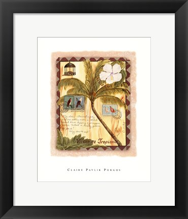 Framed Vacance Tropicale Print