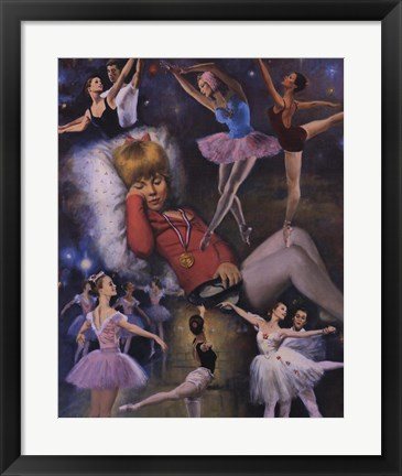 Framed Ballerina Dreams Print